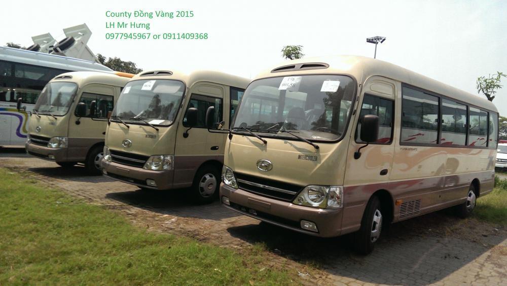 Bán xe Hyundai County Đồng Vàng 29 chỗ, Model 2015