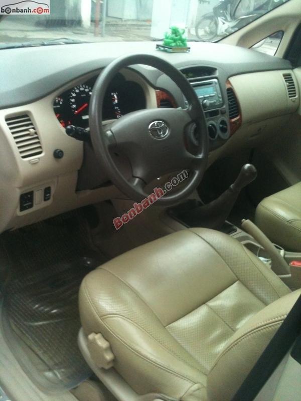 Cần bán lại xe Toyota Innova G đời 2007, màu bạc, đẹp như mới