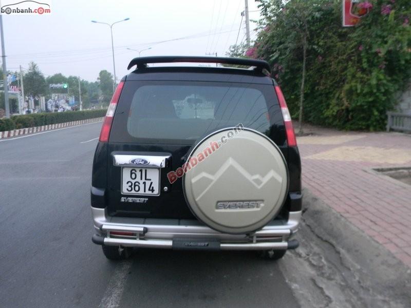 Cần bán Ford Everest 4x2 MT đời 2008, màu đen, chính chủ