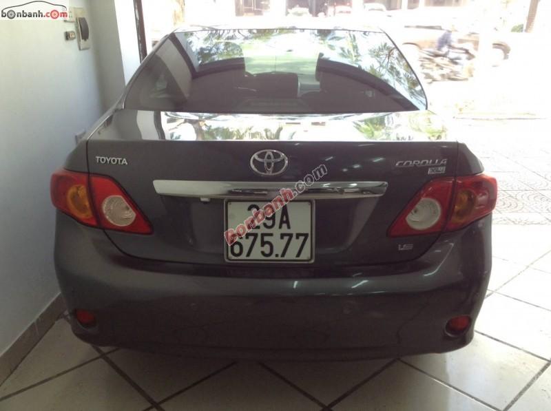Xe Toyota Corolla altis  2010