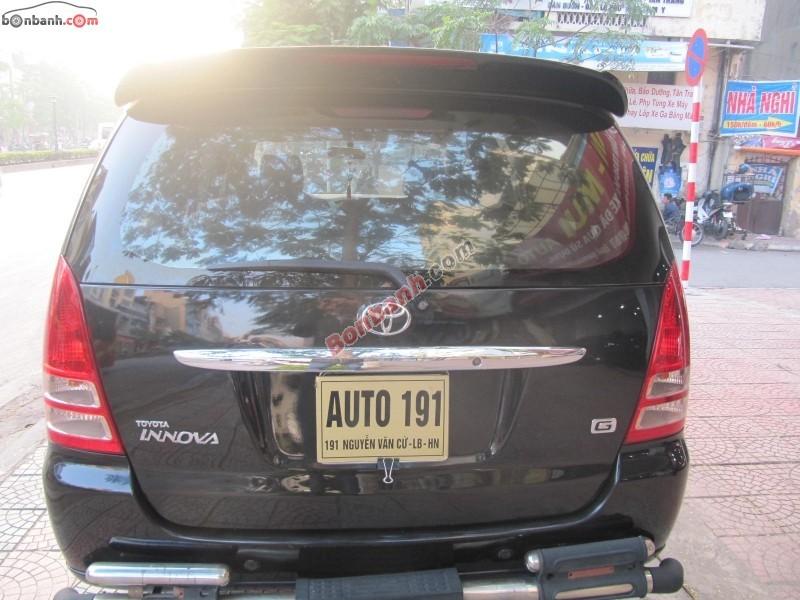 Xe Toyota Innova Bán    G  cũ tại Hà Nội 2007