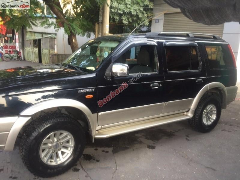 Cần bán Ford Everest 2.5L đời 2006, màu đen, nhập khẩu chính hãng số sàn