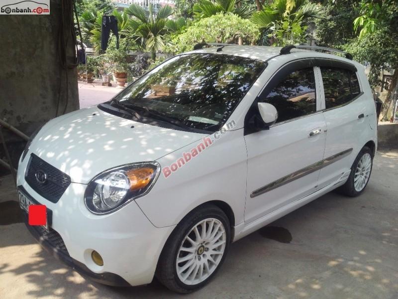 Cần bán xe Kia Morning SLX năm 2008, màu trắng, nhập khẩu, giá 269tr