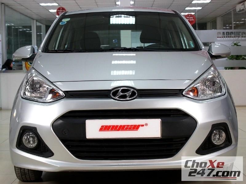 Bán xe Hyundai i10 đời 2014, màu bạc, số sàn, giá chỉ 402 triệu