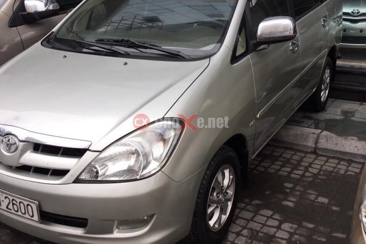 Cần bán gấp Toyota Innova G đời 2008, màu bạc, 515tr