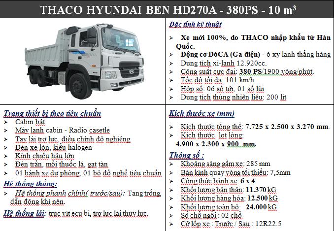 Xe Ben Hyundai Hd270, xe Ben Hyundai 3 Chân Hd270, xe Ben Hyundai Hd270 11 M3, cần bán xe ben Hyundai HD270, HD270 giá rẻ