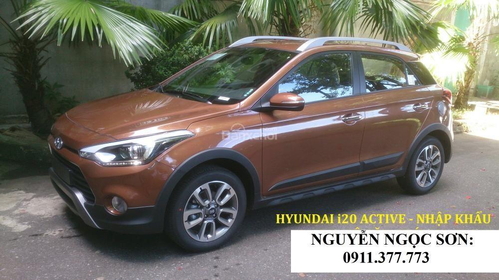 Bán xe Hyundai i20 Active mới 2017, màu nâu, nhập khẩu nguyên chiếc, 596 triệu
