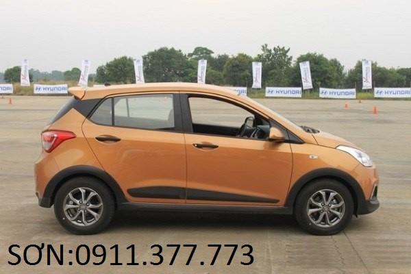 Bán Hyundai Grand i10 mới 2017, màu cam, nhập khẩu nguyên chiếc, giá 355tr. Lhệ: Ngọc Sơn: 0911.377.773