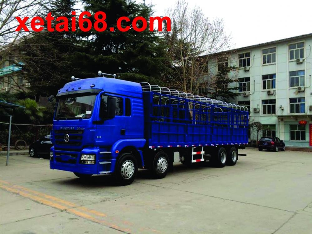Xe tải thùng Shacman đời 2016, màu xanh lam, nhập khẩu