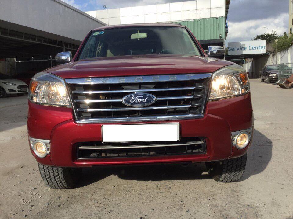 Cần bán gấp Ford Everest 2009, màu đỏ, giá 590tr