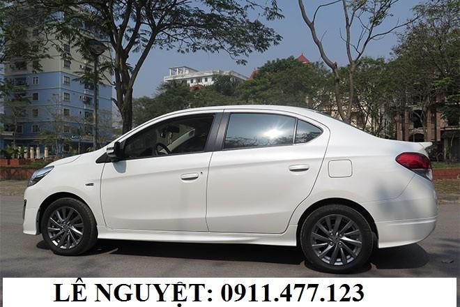 Cần bán Mitsubishi Attrage mới 2018, màu trắng, nhập khẩu. Liên hệ: Lê Nguyệt: 0911.477.123