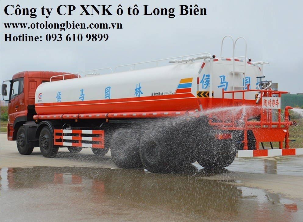 Xe phun nước rửa đường tưới cây 4 chân 17-20m3 tại Hà Nội 2017, 2018