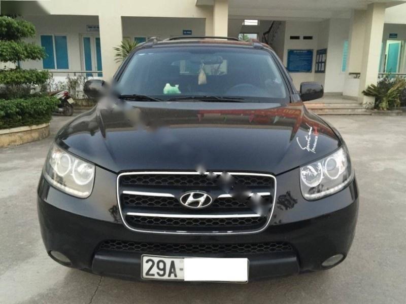 Bán xe Hyundai Santa Fe 2.2AT sản xuất năm 2007, màu đen, nhập khẩu nguyên chiếc