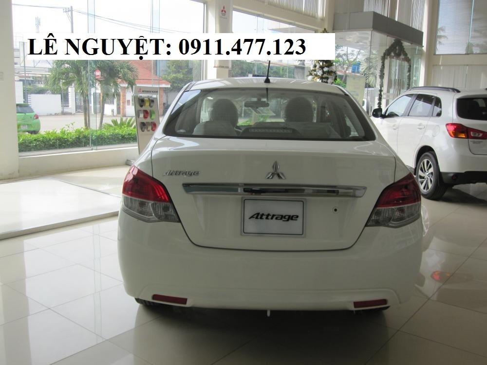Bán xe Mitsubishi Attrage màu trắng, nhập khẩu, 410 triệu, Liên hệ: Lê Nguyệt: 0911.477.123