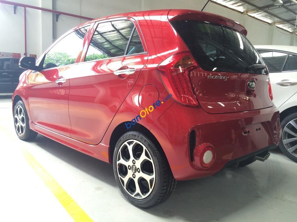 Bán ô tô Kia Morning SI năm 2017, màu đỏ giá cạnh tranh