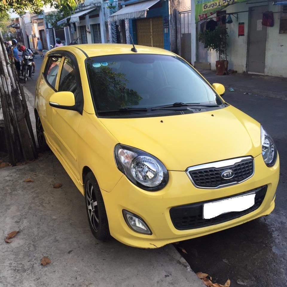 Cần bán xe Kia Morning đời 2011, màu Vàng số tự động  mẫu sport