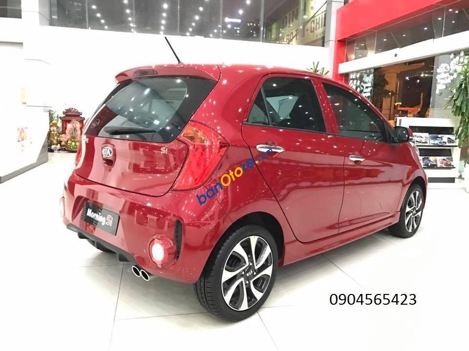 Bán xe Kia Morning sản xuất năm 2017, màu đỏ