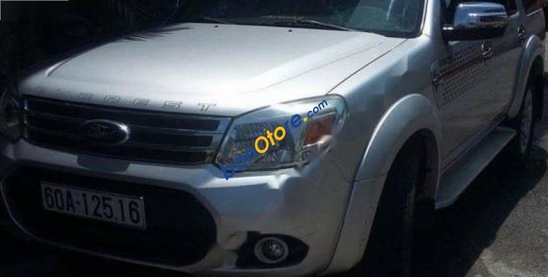 Cần bán gấp xe cũ Ford Everest đời 2013, màu bạc
