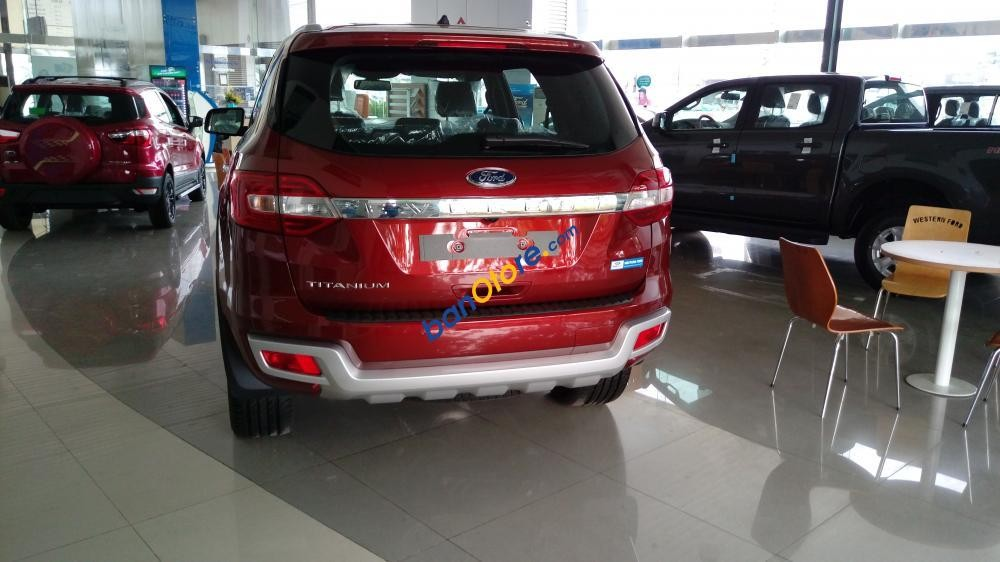 Bán ô tô Ford Everest 2.2 Titanium năm 2017, màu đỏ, nhập khẩu