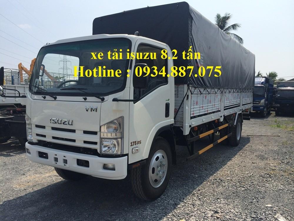 Công ty bán xe tải Isuzu 8T2 (8.2 tấn), thùng dài 7m, bán trả góp