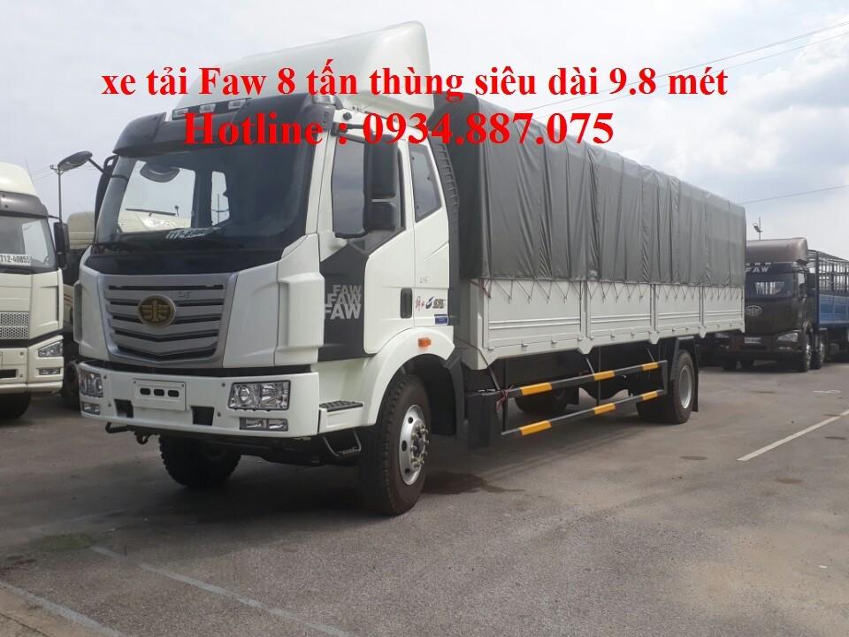 Bán xe tải Faw 8 tấn (8T) thùng siêu dài 9.8m nhập khẩu