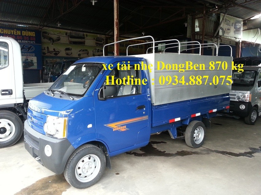 Bán xe tải Dongben 870kg thùng dài 2.5m. Hỗ trợ trả góp