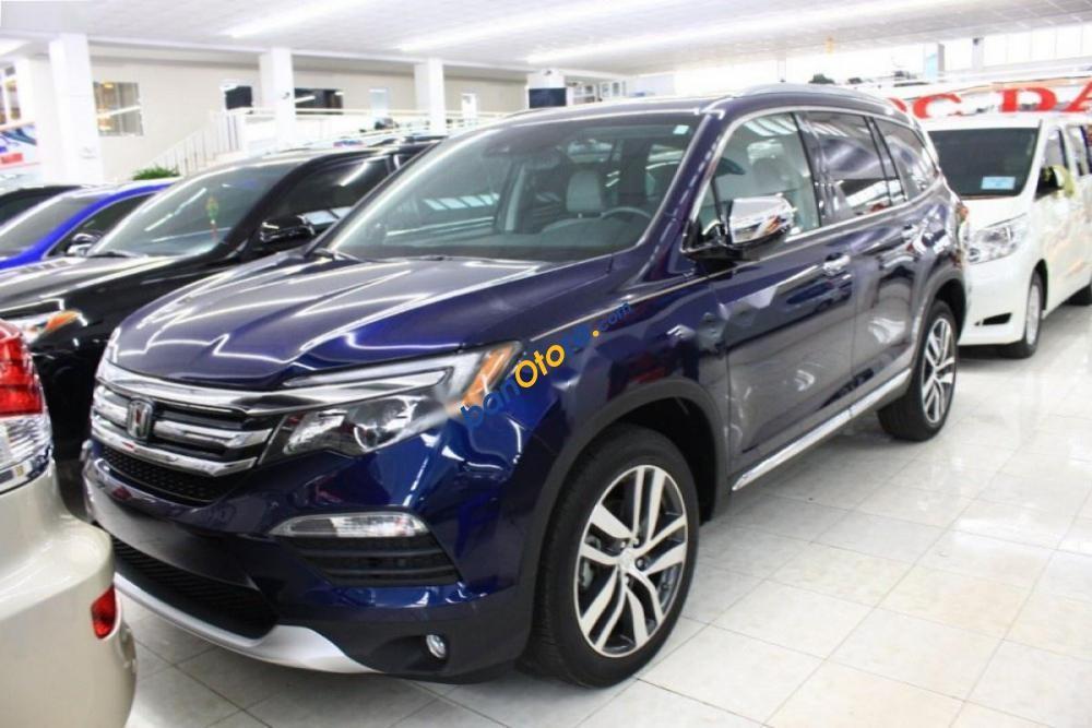 Bán Honda Pilot sản xuất 2015, màu xanh lam, nhập khẩu