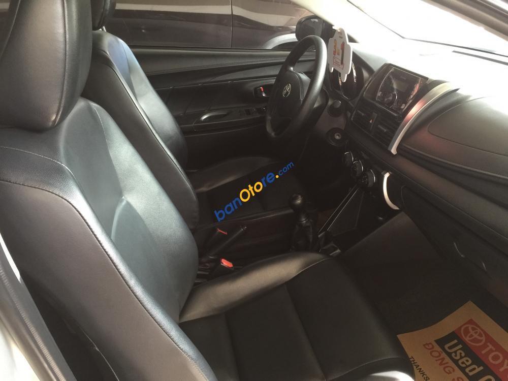 Cần bán Toyota Vios J sản xuất năm 2014, màu bạc số sàn