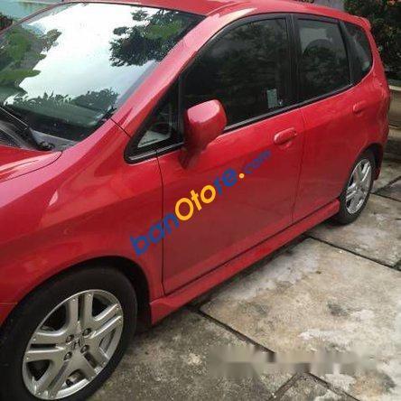 Cần bán gấp Honda FIT sản xuất 2008, màu đỏ đã đi 65000 km