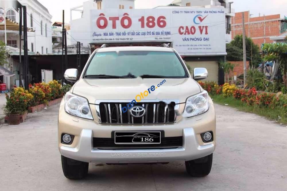 Bán xe Toyota Prado TLX sản xuất 2010, màu vàng, nhập khẩu nguyên chiếc