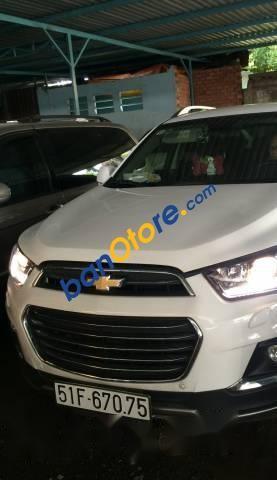 Bán Chevrolet Captiva năm sản xuất 2016, màu trắng ít sử dụng