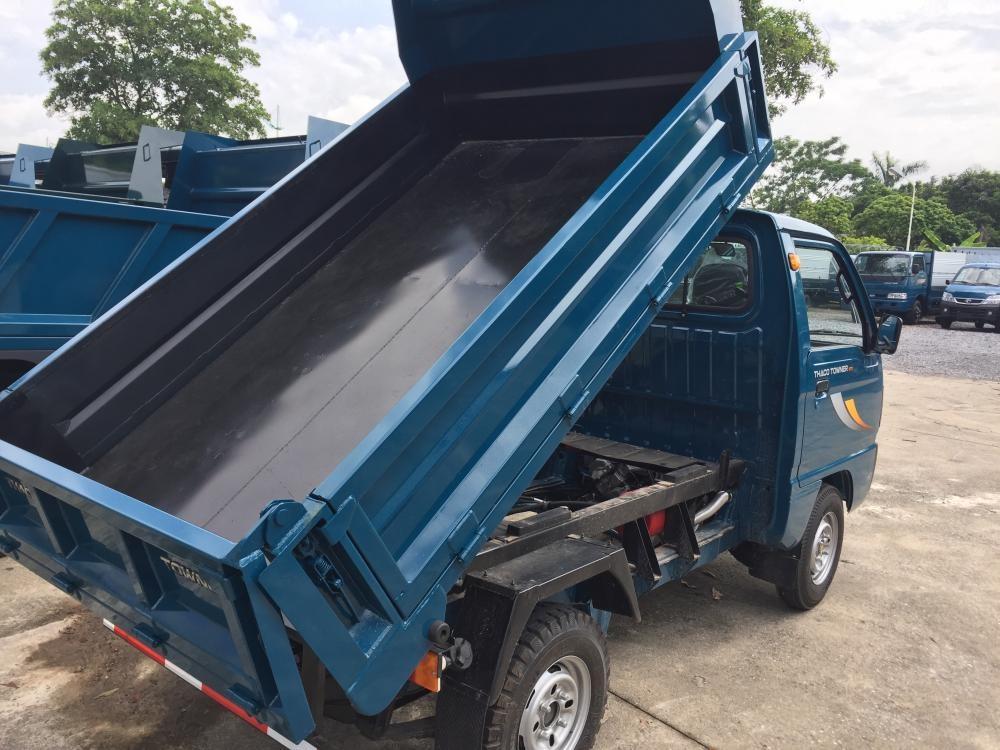 Bán xe Thaco Towner 800 thùng ben đời 2017, màu xanh lam, giá cạnh tranh