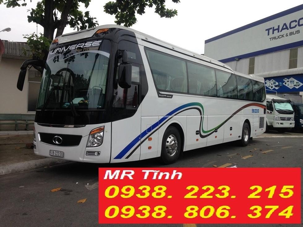 Bán ô tô Thaco Universe TB120S 47 chỗ máy W375 và máy W336 2017, màu đỏ, nhập khẩu do thaco ráp