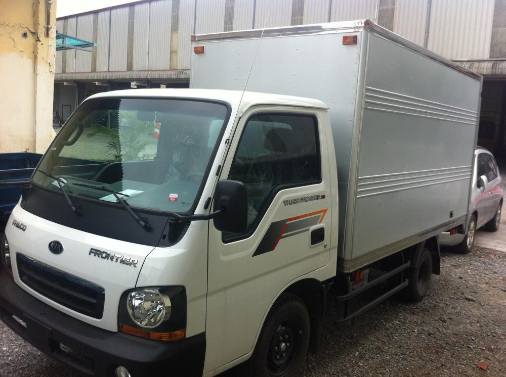 Thaco Kia Frontier 125 tải 1.25 tấn với các option thùng lửng, thùng kín, thùng mui bạt, mới 100%