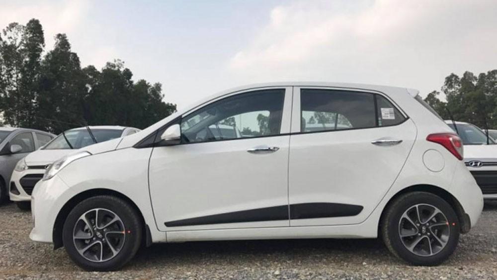 Bán xe Hyundai Grand i10 1.2MT đời 2020, màu trắng, xe giao ngay vay NH 80%