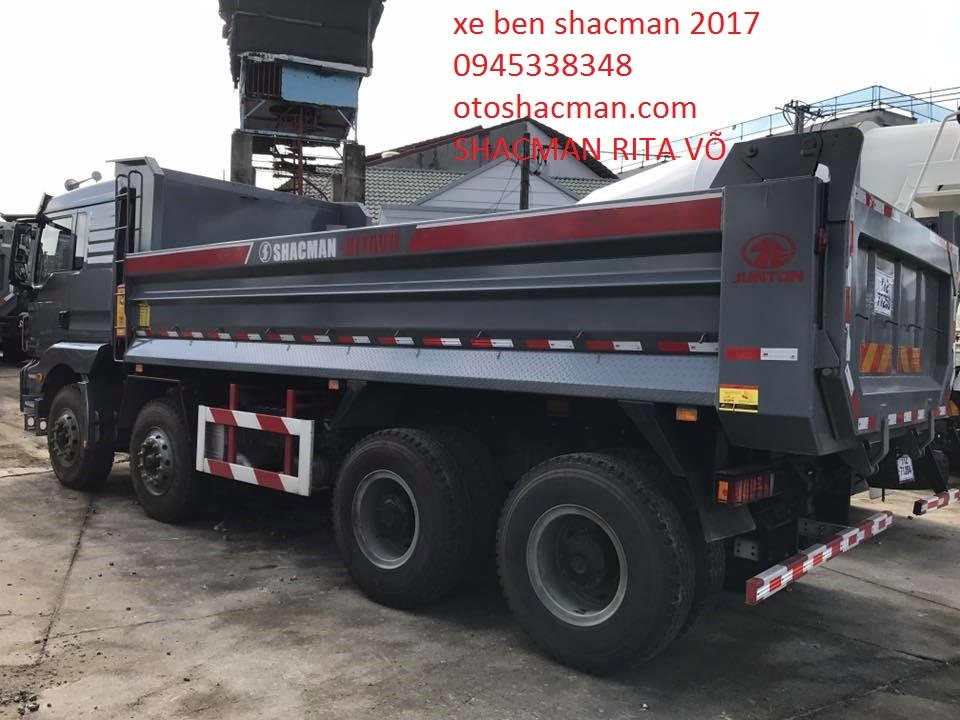 Xe ben Shacman đời mới nhất tải trọng cao lốp có ruột
