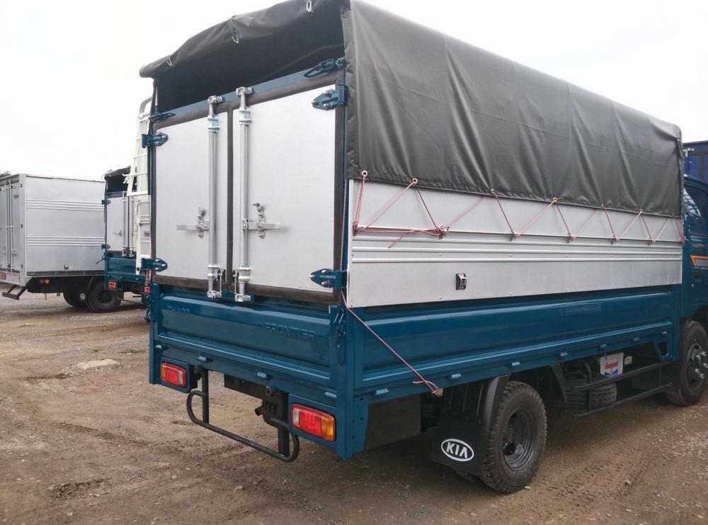 Kia K165S thùng mui bạt màu xanh Dương - Giá xe K165 thùng mui bạt bửng
