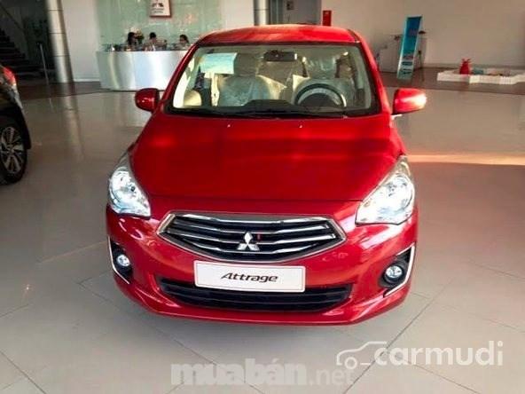 Bán Mitsubishi Attrage đời 2017, màu đỏ, nhập khẩu