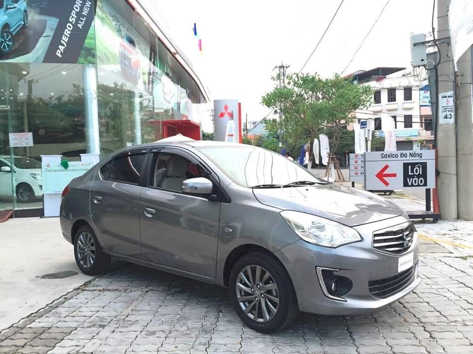 Bán ô tô Mitsubishi Attrage đời 2017, màu xám, xe nhập