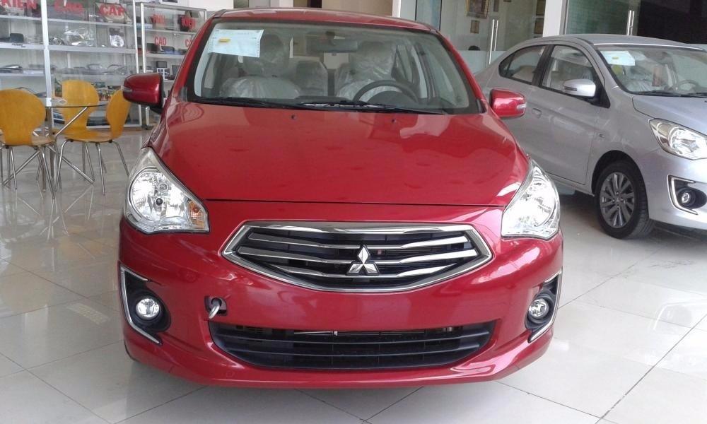 Bán ô tô Mitsubishi Attrage đời 2016, màu đỏ, nhập khẩu nguyên chiếc