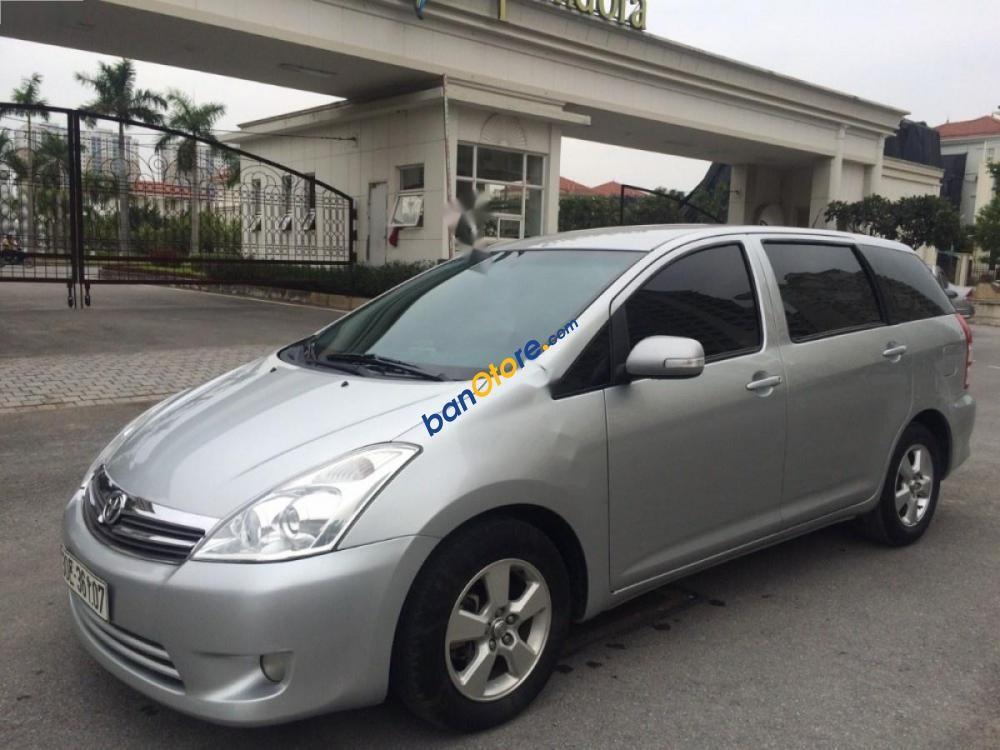 Bán Toyota Wish 2.0 AT đời 2009, màu bạc, nhập khẩu