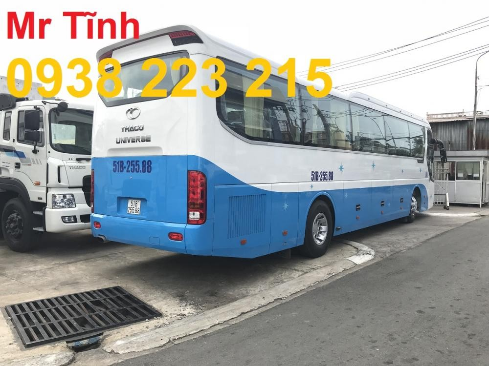 Bán Thaco Universe đời 2018, màu xanh lục, nhập khẩu chính hãng