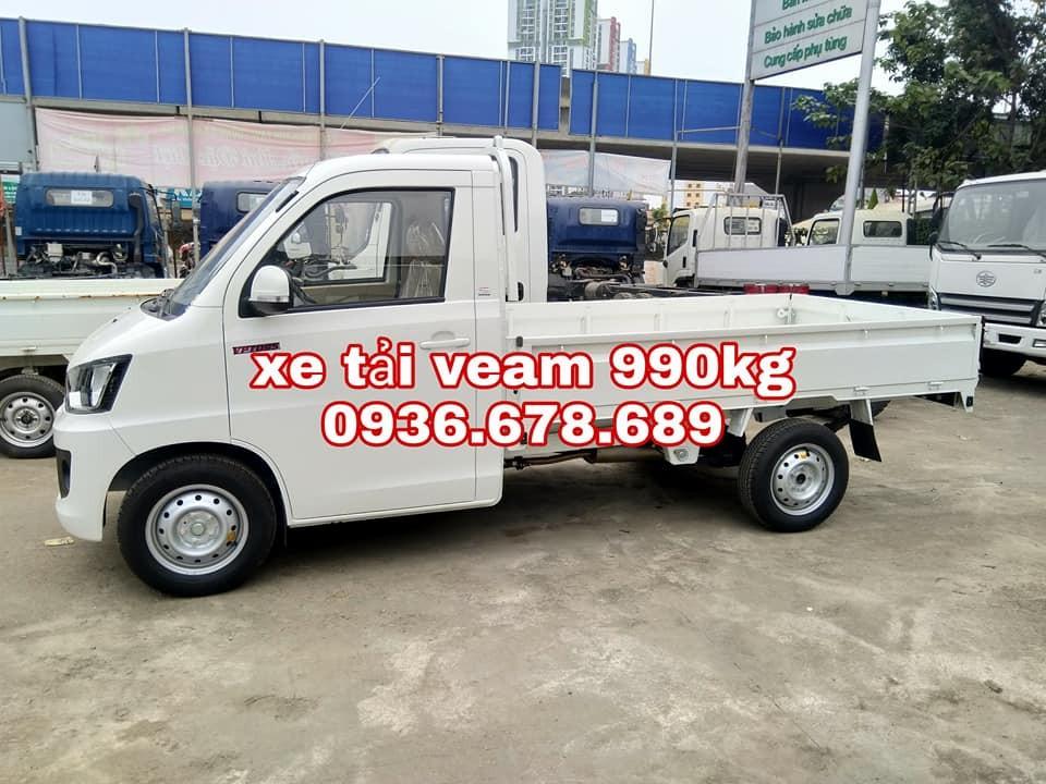 Đại lý bán xe tải Veam VPT095 tải trọng 990kg, thùng dài 2m6, nội thất hiện đại, giá rẻ nhất
