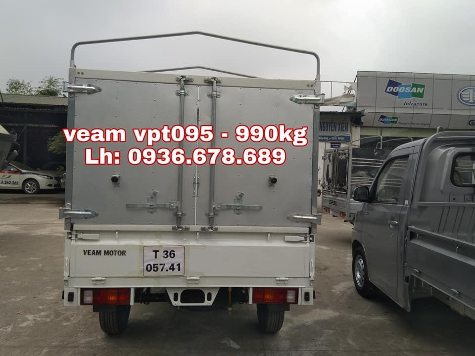 Bán xe tải Veam VPT095 đời mới nhất, tải trọng 990kg, thùng mui bạt