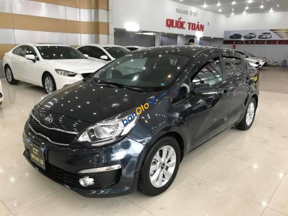 Bán xe Kia Rio sản xuất năm 2015, màu đen, xe nhập
