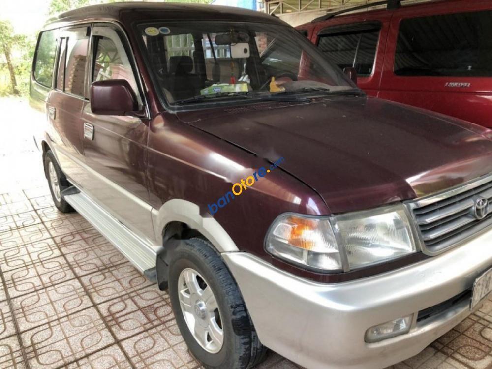 Cần bán xe Toyota Zace GL đời 2002, màu đỏ, giá chỉ 225 triệu