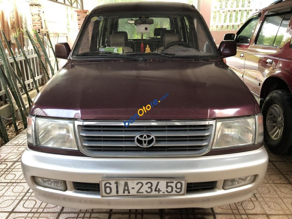 Bán ô tô Toyota Zace GL sản xuất năm 2002, màu đỏ, giá chỉ 225 triệu