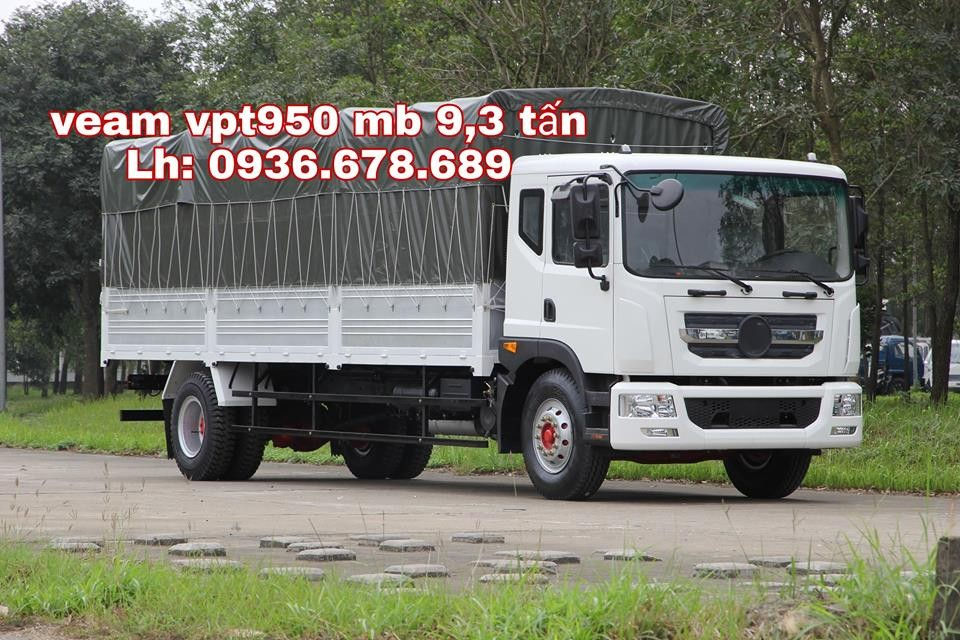 Xe tải Veam VPT950 9,3 tấn, thùng dài 7m6, giá rẻ, hỗ trợ trả góp