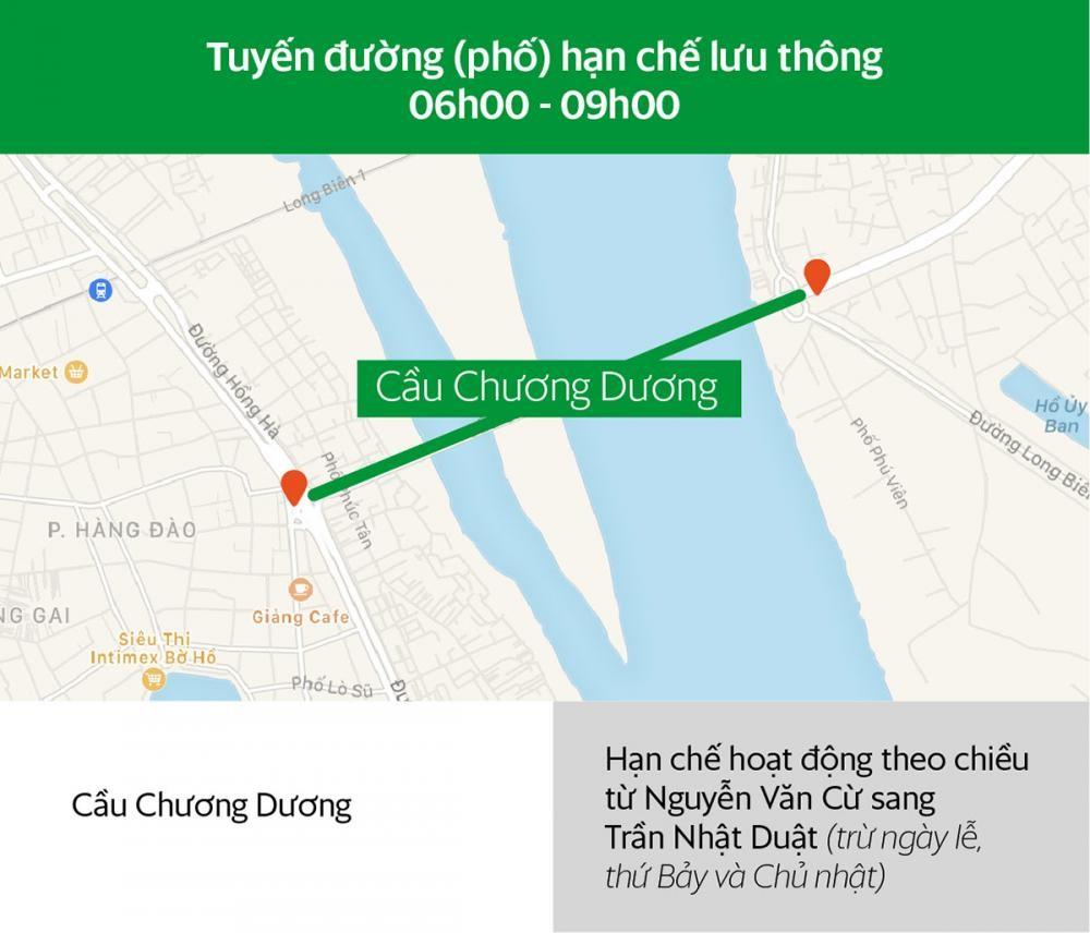 Các tuyến đường Hà Nội và khung giờ hạn chế xe hợp đồng dưới 9 chỗ lưu thông a5