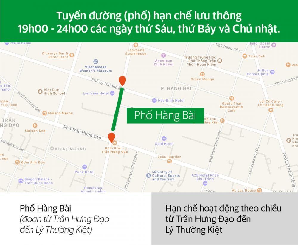 Các tuyến đường Hà Nội và khung giờ hạn chế xe hợp đồng dưới 9 chỗ lưu thông a1